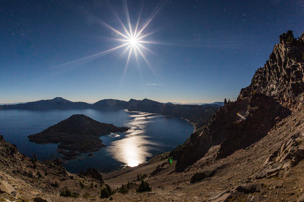 Crater Lake Moonlight. Photo Jak Wonderly