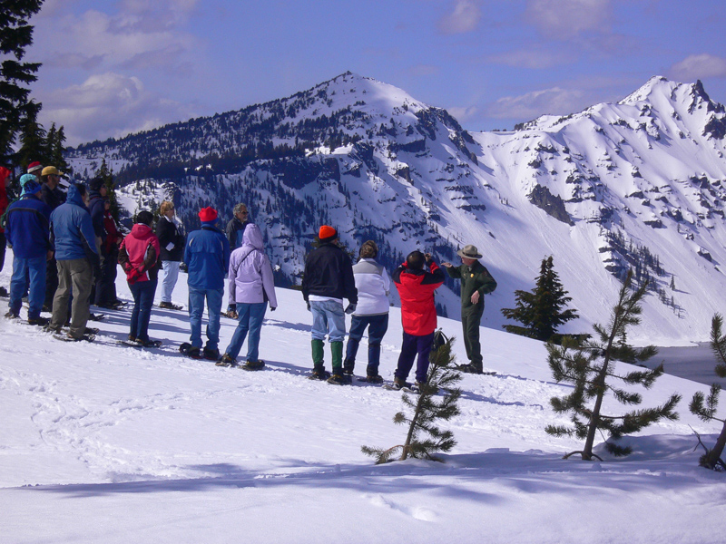 CLNP-Ranger-Guided Snowshoe Walk at Crater Lake 3-2